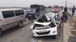 Hà Nội: 7 xe ô tô đâm liên hoàn trên cầu Thanh Trì