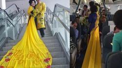 """""""Sốc"""" với hình ảnh vợ chồng Thanh Bạch tại sân bay"""