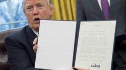 Trump chính thức kí sắc lệnh rút khỏi hiệp định TPP