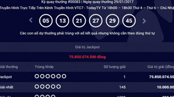 Vietlott ngày 29.1: Chủ nhân thứ 13 giải Jackpot trúng hơn 75 tỷ