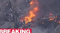Máy bay chở khách gặp nạn,nổ tung như quả cầu lửa khổng lồ