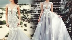 """Chân dài 9X """"gây sốt"""" khi mặc đầm cưới đính 5000 hạt pha lê"""