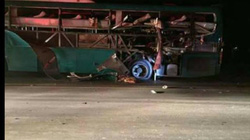 Nổ xe khách ở Bắc Ninh: Những hình ảnh đầu tiên lúc vừa phát nổ