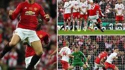 Clip Ibrahimovic lập cú đúp, M.U vô địch League Cup