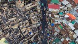 Cảnh từ trên cao ở khu phố ổ chuột đông nhất thế giới