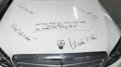 Tranh cãi dòng chữ 'thừa tiền, thiếu ý thức' kín nắp capo xe Mercedes
