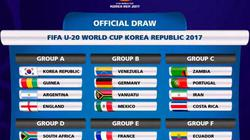 Lịch thi đấu vòng bảng giải U20 World Cup 2017