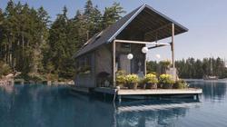 Nhà nổi 22m2 giữa hồ đẹp như tranh vẽ