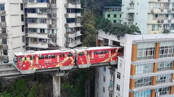"""TQ: Vì sao tàu điện trên cao """"xuyên thủng"""" nhà 19 tầng?"""