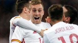 """Clip Tây Ban Nha bùng nổ cuối trận, """"nhấn chìm"""" Pháp"""