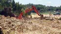 Băm nát đồi núi lấy đất trái phép ở Quảng Ngãi