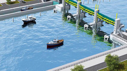 Cống ngăn triều đầu tiên của dự án chống ngập 10.000 tỷ đồng
