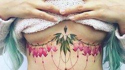"""Hoa xinh """"mọc"""" nơi thềm ngực đầy: Chiêu quyến rũ """"nửa kia"""" của chị em"""