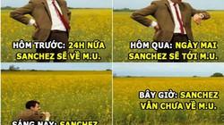 """ẢNH CHẾ HÔM NAY (20.1): Chờ Sanchez tới M.U như """"hóng mẹ đi chợ về"""""""