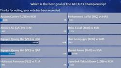 Quang Hải thống trị các bàn thắng đẹp ở VCK U23 châu Á 2018