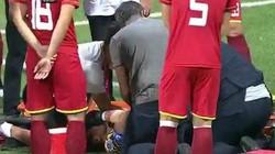 CLIP: Thủ môn Nguyên Mạnh - SLNA gãy tay rùng rợn tại AFC Cup
