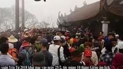 Hàng nghìn người chen chúc đến xoa tiền trên chùa Đồng ở Yên Tử
