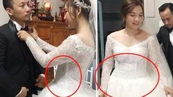 Vợ xinh 9x của Tiến Đạt nói gì khi bị nghi có bầu vì vòng 2 lùm lùm trong ngày cưới?