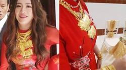 """Nữ ca sĩ đeo vàng trĩu nặng tay trong đám cưới """"khủng"""" ở Vĩnh Long là ai?"""