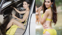 Hoa hậu có vòng 3 1m đi xe 4,5 tỷ, đeo trang sức kim cương 1,3 tỷ là ai?
