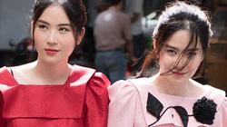 """Chị em song sinh Nam Anh - Nam Em """"gây náo loạn"""" khu phố khi xuất hiện"""