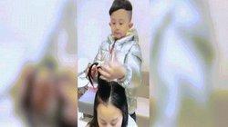 Bé trai 6 tuổi nổi như cồn vì cắt tóc tạo kiểu như thợ chuyên nghiệp