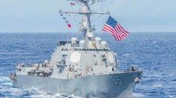 Tàu chiến Mỹ đi qua eo biển Đài Loan, gây sức ép với Trung Quốc