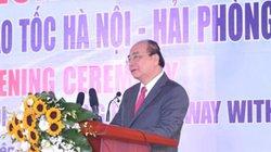 Thủ tướng dự lễ thông xe tuyến đường bộ nối hai cao tốc