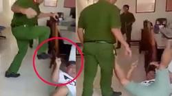 Trung tá công an đạp người làm chứng tại trụ sở làm việc?