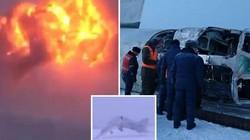 Oanh tạc cơ Nga gãy đôi, bốc cháy ngùn ngụt