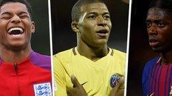 10 ngôi sao U23 xuất sắc nhất châu Âu: Rashford 'đấu' Mbappe