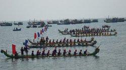 Khai hội đua thuyền tứ linh đầu xuân ở Lý Sơn