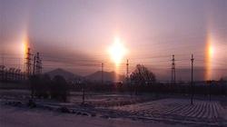 """Ngắm """"ba Mặt Trời"""" xuất hiện cùng lúc trên bầu trời ở Trung Quốc"""