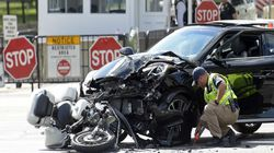 Mật vụ Mỹ lái môtô từng gặp nạn ngay gần Nhà Trắng