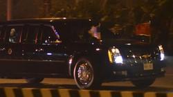 Đoàn xe chở Tổng thống Donald Trump về khách sạn