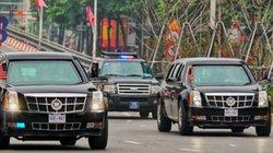 Hình ảnh đoàn xe 2 ông Trump - Kim về khách sạn sau hội đàm