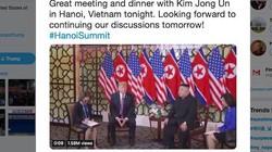"""Ông Donald Trump """"tweet"""" về cuộc gặp và bữa ăn tối với ông Kim Jong Un tại Hà Nội"""