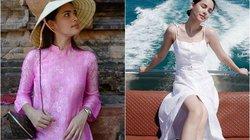 Nhan sắc nữ diễn viên xứ Chùa Vàng diện áo dài vừa du lịch ở Việt Nam