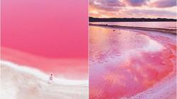 Giật mình phát hiện hồ nước màu hồng duy nhất trên thế giới