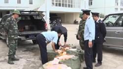 Lạng Sơn: Bắt giữ nhiều bao tải chứa mỡ và thịt lợn nhập lậu