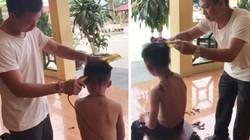 Chuyện thầy Hiệu trưởng cắt tóc cho học sinh bị phụ huynh bắt đền