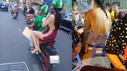 Váy hở mạn sườn tràn xuống phố Việt