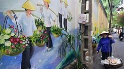 Ảnh, clip: Làng hoa Ngọc Hà vào tranh bích họa dọc ngõ nhỏ Hà thành