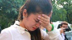 """Bà Lê Hoàng Diệp Thảo bật khóc: """"Công lý nào cho các con tôi?"""""""