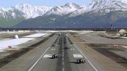 """Không quân Mỹ diễn tập """"Voi đi bộ"""" siêu hoành tráng với 24 tiêm kích F-22"""