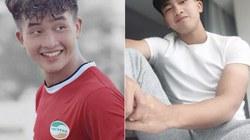 """Cởi bỏ áo đấu, """"em út"""" U23 Việt Nam đẹp trai như tài tử"""