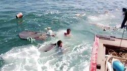 Quảng Ngãi: Tàu chở hàng từ đất liền ra đảo Lý Sơn bị chìm