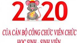 Lịch nghỉ Tết nguyên đán 2020 của công chức viên chức, HS, SV