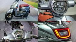 Ảnh thực tế xe ga mới Suzuki Saluto 125, sánh cạnh 2020 Honda Air Blade