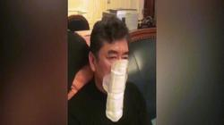 """Video: Người đàn ông TQ dùng băng vệ sinh bịt mặt tránh virus Corona vì """"quá tuyệt vọng"""""""